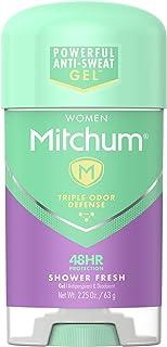 Mitchum Antiperspirant Deodorant Stick for Women, Triple Odor Defense Gel, 48 Hr Protection, Shower Fresh, 2.25 oz
