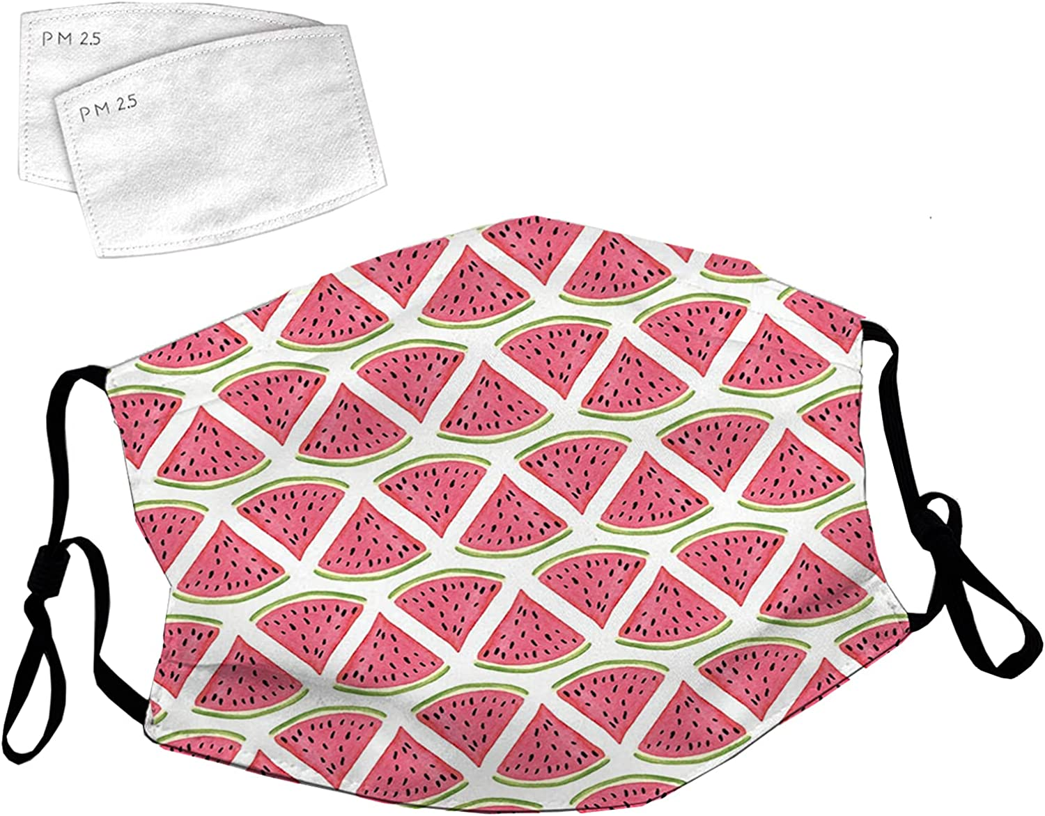 Credence Reusable Face Mask Arlington Mall with Adjustable Loops See Watermelon Ear Cute