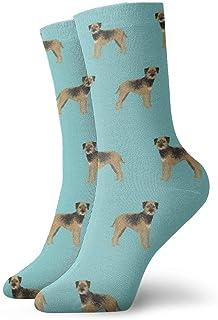 Border Terrier - Calcetines de pie para hombre (transpirables)