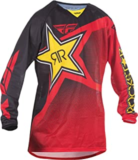 Fly Racing Unisex-Adult Kinetic Rockstar Mesh Jersey Red/Black X-Large
