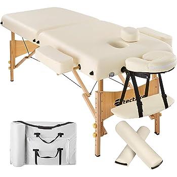 Coussin bleu /à moiti/é rond pour table de massage