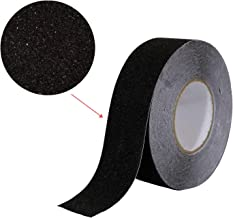 "Houseables Anti Slip Tape, Grip Tapes, Black, 80 Grit, 60' x 2"", Treads Non Slip, Safety, High Friction, Strong Abrasive f..."