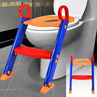 MEDCO Trainer Toilet Potty Training Seat Chair Kids Toddler with Ladder Step Up