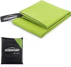 Overmont Toalla Deportiva Secado rápido de Microfibra Super Absorbente, Ideal para Deportes, Viajes, Playa,natación,M/L