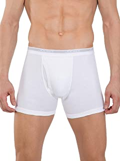 Jockey Men's Cotton Boxer Brief, White, X-Large (Pack of 2)