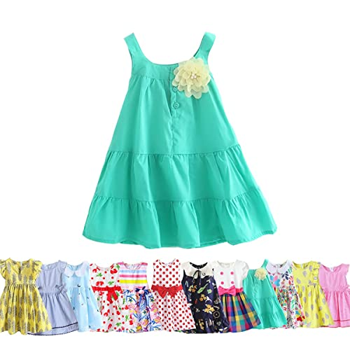 fd0ed361f15b Abalaco Girls Kids 100% Cotton Summer Printed Sundress Floral Casual  Toddler Tutu Dress