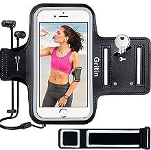 Gritin Fascia da Braccio, Sweatproof Fascia da Braccio Sportiva con Chiave e Riflettente Armband per iPhone 8 Plus/7 Plus/6 Plus, Samsung S8/S9/S8 Plus- Un Bracciale aggiuntivo di Estensione Incluso