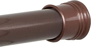 Zenna Home Bronze 505RB, Tension Shower Curtain Rod, 43 to 72-Inch, Oil Rubbed 72 Inches