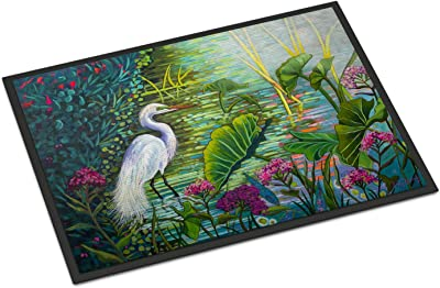 Caroline's Treasures Testing The Waters Heron Door Mat doormats, Multicolor