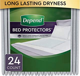Depend Waterproof Bed Pads/Underpads for Incontinence, Disposable, 36