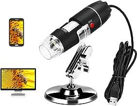 USB Microscope Digital Microscope 40-1000X Magnification Microscope Camera Portable Handheld Microscope with 8 LED Lights,...