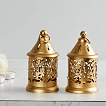 Home Centre Raga-Manthan Round Hanging Lantern - Set of 2 Pieces - Gold