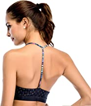 Chisportate Women's Strappy Sports Bra Removable Padded Bra Comfort Yoga Bra Tops Activewear for Workout Running Fitness