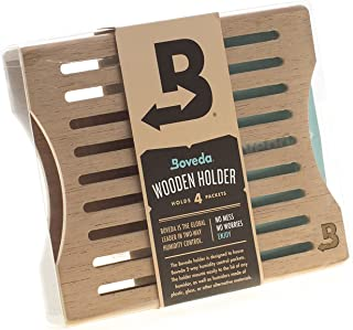 Boveda Wood Holder for Humidors, Holds (4) 60-Gram, Includes Magnetic mounting kit, up to 100-count humidor, Made of kiln Dried Spanish Cedar, elevates for Easier Access to Cigars
