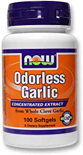 Now Foods Odorless Garlic Original, 100 Sgels 50 mg
