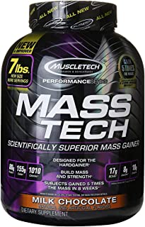 MuscleTech Performance Series MassTech Milk Chocolate, 7 lbs.