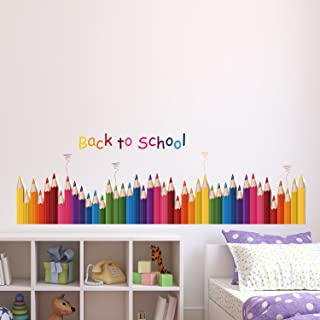 Amazon Brand - Solimo Wall Sticker for Kids' Room (Pop of Colours, Ideal Size on Wall: 137 x 43 cm)