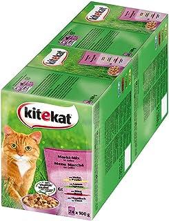 Comida para Gatos Kitekat – Comida húmeda en práctica Bolsa de 100 g, Diferentes variedades