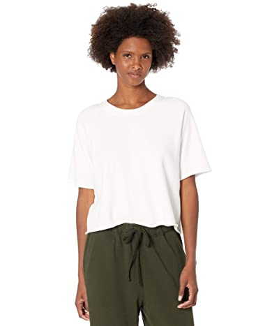 Eileen Fisher Crew Neck Box Top in Organic Cotton French Terry