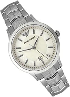 Emporio Armani Women's White Dial Stainless Steel Band Watch - AR2416