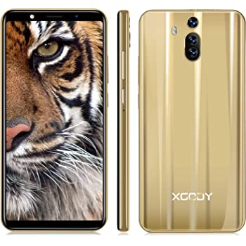 Unlocked Cell Phones International Version, Xgody Dual SIM Unlocked Smartphones Android 8.1, 6.0 Inch, 1 GB + 8 GB Memory, Enable Global Use, Gold