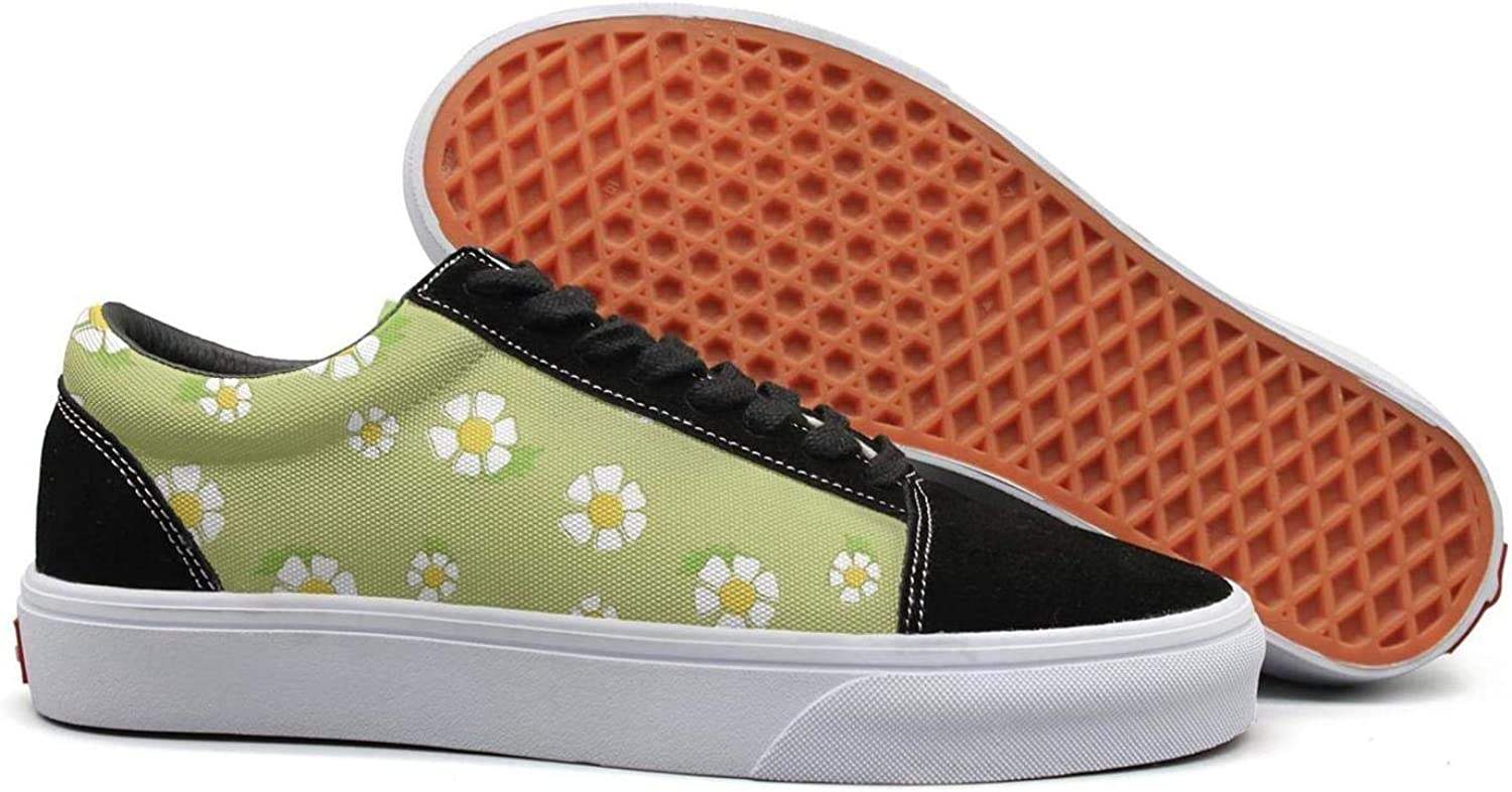 Winging Womens Daisy Plant Daisy Garden Beautiful Suede Casual shoes Old Skool Sneakers