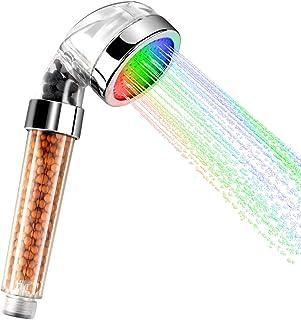 Htovila cambia de color, sensor de temperatura Alcachofa de ducha con LED