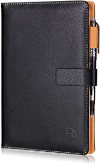 VELLEE A5 ノート カバー システム手帳 スマートノート レザー 消せる機能 500回繰り返し使える 革製 メモ帳 オフィス用 防水 収納ポケット付き クラウド保存 FriXion ペン付き ブラック