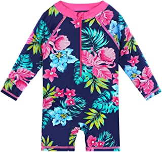 Baby/Toddler Girl Swimsuit Long Sleeve One-Piece Swimwear Rashguard