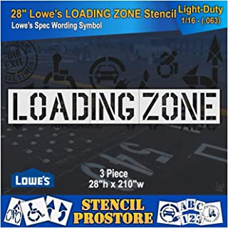 Retail Stencils - Lowes - 28 in Loading Zone (3 pc) Stencil - 211'' x 28'' x 1/16