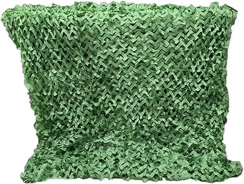 GGYMEI Filet De Camouflage Filet D'ombrage Résistant à L'usure Facile à Plier Facile à Porter Abat-jour Extérieur En Fibre De Polyester, 28 Tailles (Couleur   vert, Taille   5x8m)