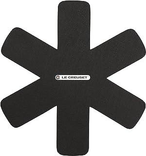 Le Creuset grytskydd, set med 3 stycken, för alla typer av pannor och kastruller, svart