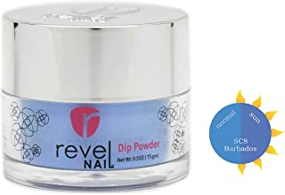 Revel Nail Dip Powder | for Manicures | Nail Polish Alternative | Non-Toxic & Odor-Free | Crack & Chip Resistant | Can Last Up to 8 Weeks | 1oz Jar | Sun Colors | Barbados