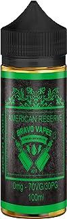 100 ml E-Liquído AMERICAN RESERVE etiqueta GREEN para cigarillos electrónico by Bravo Vapes sin Nicotina - Hecho en Italia
