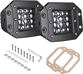 Quad Row LED Pods, AKD Part 2pcs 84W LED Flush Mount 5 inch Spot Beam Philips LED Light Bar LED Work Light Driving Lights Super Bright Fog Light Off Road Lights for Truck Bumper Boat, 2 Years Warranty