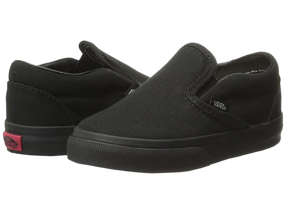 Vans Kids Classic Slip-On Core (Toddler) (Black/Black) Kids Shoes