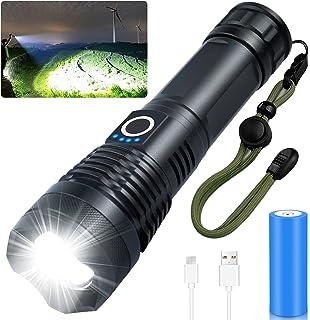 10000 Lumens Rechargeable Flashlight High Lumens, Grentay Brightest Powerful Led Flashlight, Super Bright Waterproof Flash...
