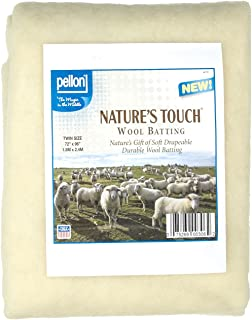 Pellon Wool Batting Twin 72in X 96in, Natural