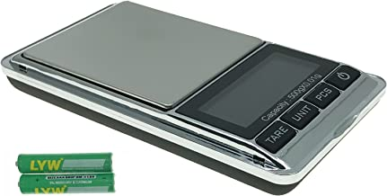 INMAKER Digital Pocket Scale Mini Scale 0.01g/500g Jewelry 7 Units, Tare, PCS Function, 2 Batteries Included