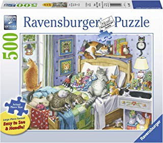 Ravensburger Cat Nap 14966 500 Piece Large Pieces Jigsaw Puzzle for Adults, Every Piece is Unique, Softclick Technology Means Pieces Fit Together Perfectly