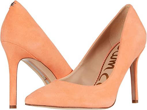 Cantaloupe Suede Leather