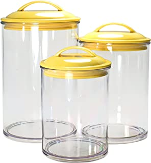 yellow canister sets