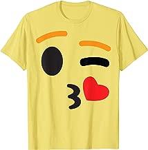 Kissing Kiss Face Emoji Easy Lazy Group Halloween Costume T-Shirt