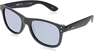 Local Supply Men's EVERYDAY Polarized Sunglasses - Silver Mirror Lens, Matte Black Frames