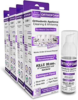 EverSmile OrthoFoam Braces Cleaner & Tooth Whitener (4 Pack)