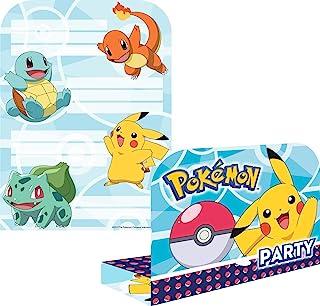 Amscan International 10025593 9904829 Pokemon Pokémon Printed Invites & Envelopes Pack 8