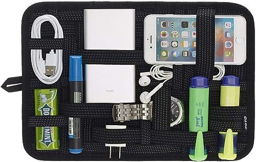 JOTO Travel Gear Management Organise Le Sac pour l'électronique Accessoires Outils Disque Dur Carte mémoire Flash Dri...