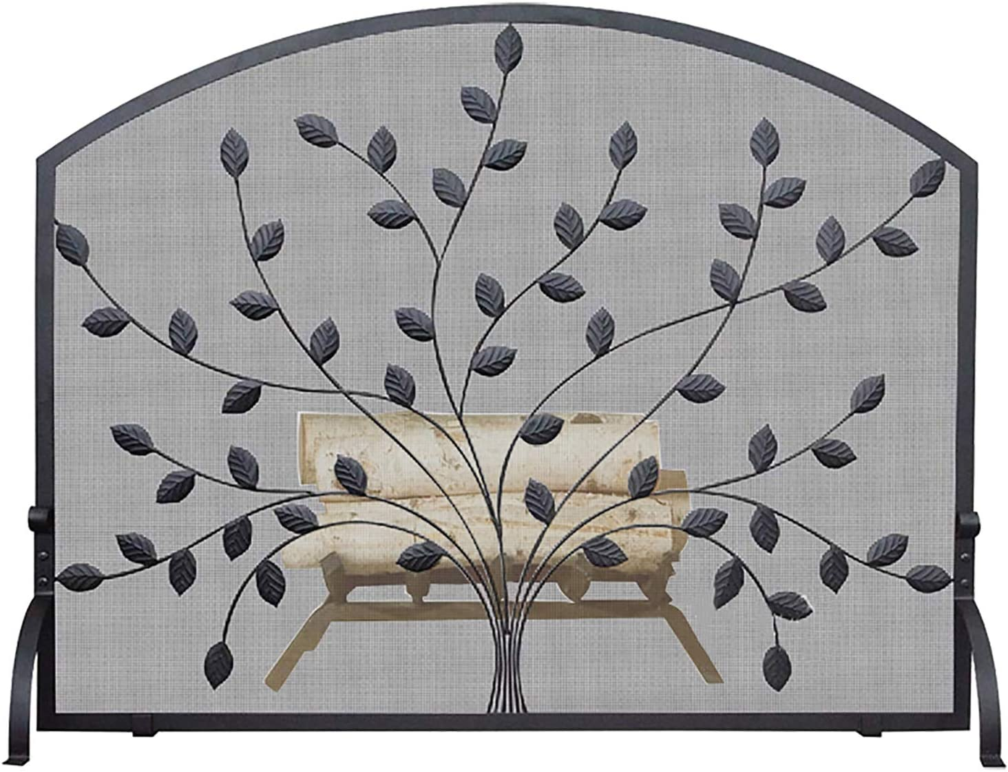 Fireplace Fixed famous price for sale Screens Traditional Leaf Arched Guard Free Black Fire