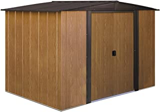 Arrow WL86 Woodlake 8-Feet by 6-Feet Steel Storage Shed