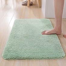 "ESUPPORT Bath Mats Rug Soft Natural Floor Carpet Non Slip Outdoor Entrance Doormats,19.6"" x 31.4""/Green"